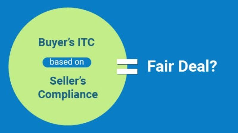 Buyer's ITC based on seller's compliance