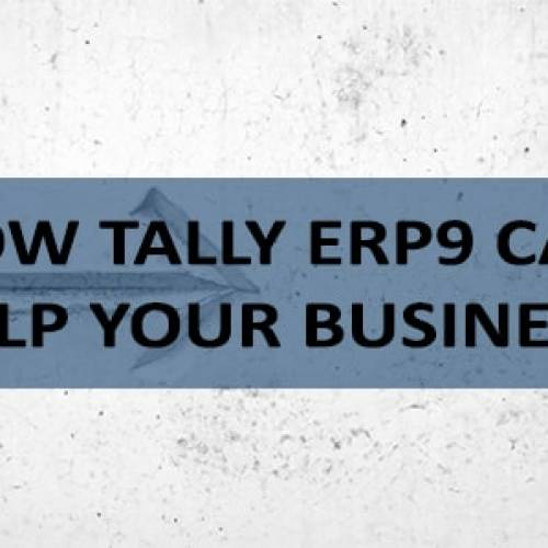 How Tally ERP9 Can Help Your Business